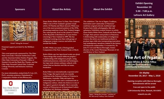Maori Exhibit BrochureJ